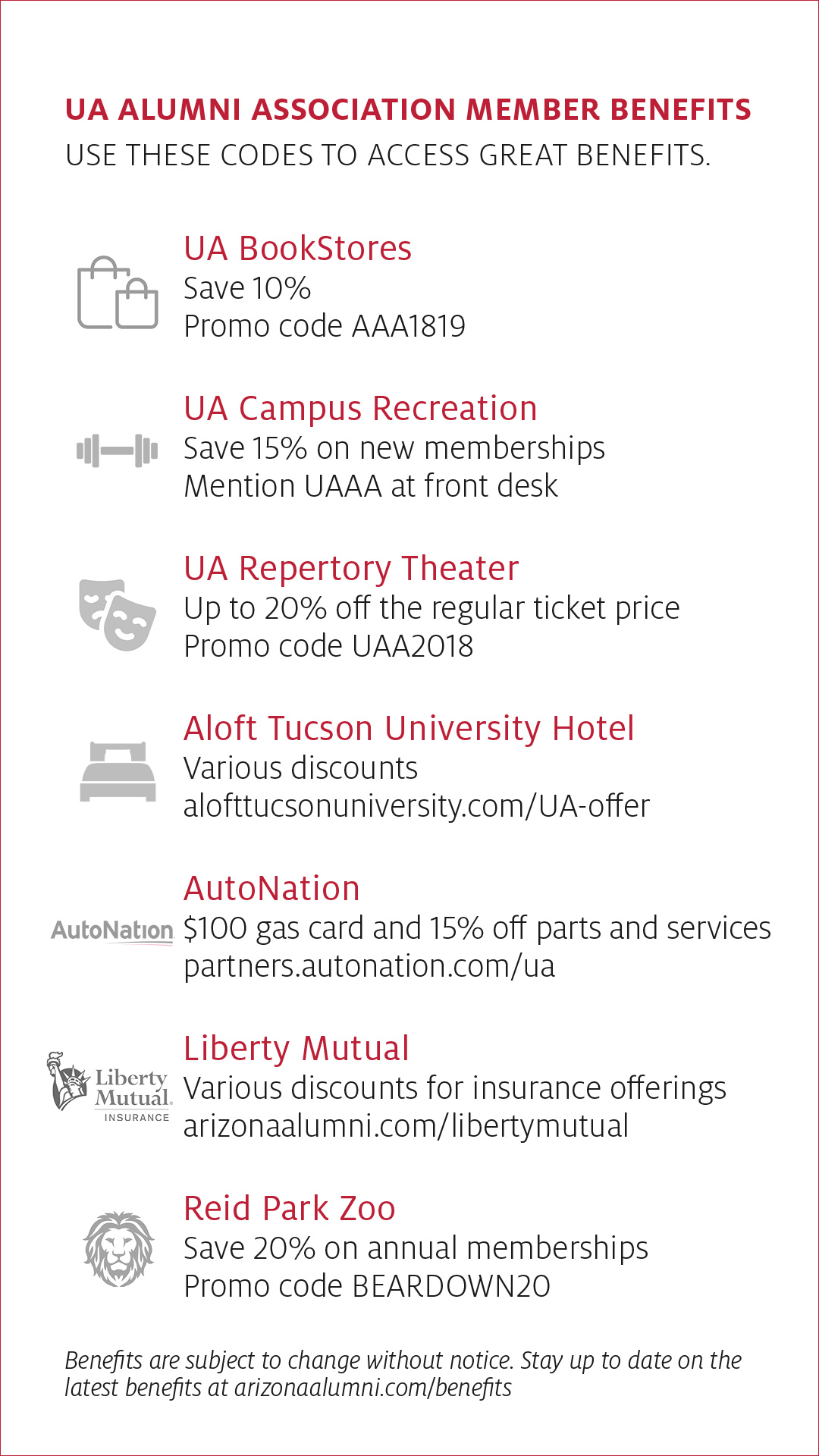 Member Benefits | UA Alumni Association