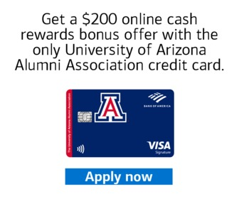Ad with credit card offer.