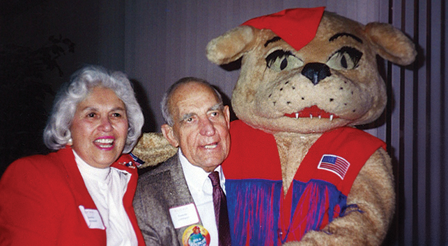 "Stella and Marvin ""Swede"" Johnson with Wilma"