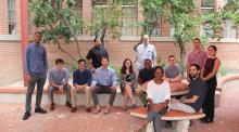 The current Bridge to Doctorate cohort students, with UA faculty and staff.