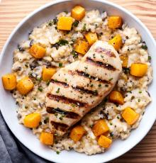 Chicken Risotto Squash